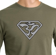 Mens Yoga Shirt Super OM Thermal Shirt