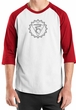 Mens Yoga Shirt Vishuddha Chakra Meditation Raglan Shirt