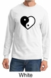 Mens Yoga Shirt Yin Yang Heart Long Sleeve Tee T-Shirt