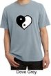 Mens Yoga Shirt Yin Yang Heart Pigment Dyed Tee T-Shirt