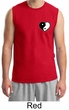 Mens Yoga Shirt Yin Yang Heart Pocket Print Muscle Tee T-Shirt