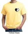 Mens Yoga Shirt Yin Yang Heart Pocket Print Organic Tee T-Shirt