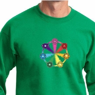 Mens Yoga Sweatshirt 7 Chakra Circle Sweat Shirt