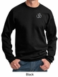Mens Yoga Sweatshirt – Aum Hindu Patch Pocket Print Sweat Shirt