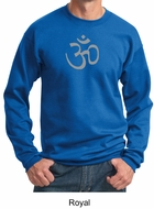 Mens Yoga Sweatshirt - Aum Symbol Meditation Adult Sweat Shirt