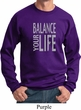 Mens Yoga Sweatshirt Balance Your Life Sweat Shirt