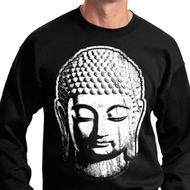Mens Yoga Sweatshirt Big Buddha Head Sweat Shirt