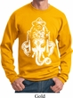 Mens Yoga Sweatshirt BIG Ganesha Head Sweat Shirt