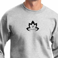 Mens Yoga Sweatshirt Black Namaste Lotus Sweat Shirt