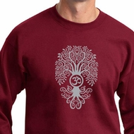 Mens Yoga Sweatshirt Grey Bodhi Tree Sweat Shirt