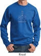 Mens Yoga Sweatshirt Namaste Lotus Pose Sweat Shirt