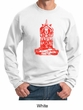 Mens Yoga Sweatshirt Red Tara Sweat Shirt