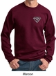 Mens Yoga Sweatshirt Super OM Pocket Print Sweat Shirt