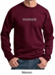 Mens Yoga Sweatshirt Warrior Text Sweat Shirt