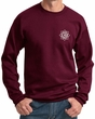 Mens Yoga Sweatshirt White Lotus OM Pocket Print Sweat Shirt