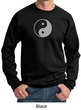Mens Yoga Sweatshirt Yin Yang Big Print Meditation Sweatshirt