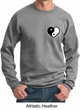 Mens Yoga Sweatshirt Yin Yang Heart Pocket Print Sweat Shirt