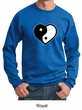 Mens Yoga Sweatshirt Yin Yang Heart Sweat Shirt