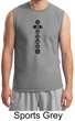 Mens Yoga T-shirt 7 Chakras Black Print Muscle Shirt