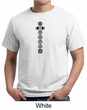 Mens Yoga T-shirt 7 Chakras Black Print Organic Shirt