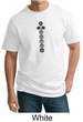 Mens Yoga T-shirt 7 Chakras Black Print Tall Shirt