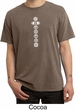 Mens Yoga T-shirt 7 Chakras White Print Pigment Dyed Shirt