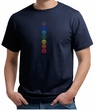 Mens Yoga T-shirt 7 Colored Chakras Organic Shirt