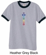 Mens Yoga T-shirt 7 Colored Chakras Ringer Shirt