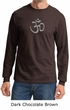 Mens Yoga T-shirt - Aum Symbol Meditation Adult Long Sleeve Shirt