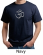 Mens Yoga T-shirt - Aum Symbol Meditation Adult Organic Tee Shirt