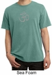 Mens Yoga T-shirt - Aum Symbol Meditation Adult Pigment Dyed Tee Shirt