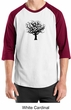 Mens Yoga T-Shirt Black Tree of Life Raglan Shirt