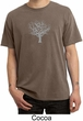 Mens Yoga T-shirt Grey Tree of Life Pigment Dyed Tee