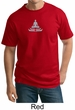 Mens Yoga T-shirt - Lotus Pose Meditation Tall Tee Shirt