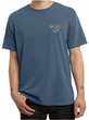 Mens Yoga T-Shirt Super OM Pocket Print Pigment Dyed Tee Shirt