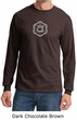 Mens Yoga T-shirt Swadhisthana Chakra Symbol Adult Long Sleeve Shirt