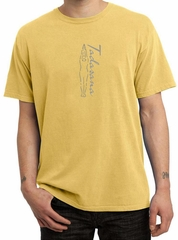 Mens Yoga T-shirt Tadasana Mountain Pose Pigment Dyed Shirt - Dijon