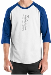 Mens Yoga T-shirt Tadasana Mountain Pose Raglan Shirt