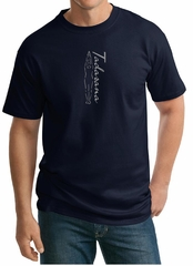Mens Yoga T-shirt Tadasana Mountain Pose Tall Shirt