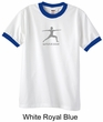 Mens Yoga T-shirt – Warrior 2 Pose Meditation Ringer Shirt