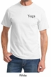 Mens Yoga T-shirt Yoga Logo Pocket Print Adult Tee Shirt
