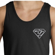 Mens Yoga Tank Top Super OM Pocket Print Tanktop