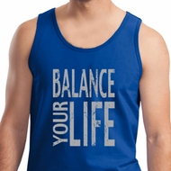 Mens Yoga Tanktop Balance Your Life Tank Top