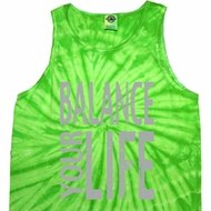 Mens Yoga Tanktop Balance Your Life Tie Dye Tank Top