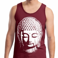 Mens Yoga Tanktop Big Buddha Head Tank Top