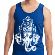 Mens Yoga Tanktop BIG Ganesha Head Tank Top