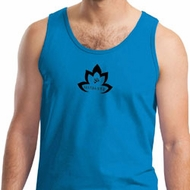 Mens Yoga Tanktop Black Namaste Lotus Tank Top