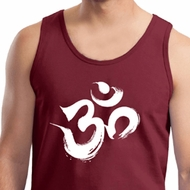 Mens Yoga Tanktop Brushstroke Aum Tank Top