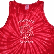 Mens Yoga Tanktop Namaste Bitches Tie Dye Tank Top