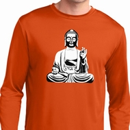 Mens Yoga Tee At Peace Buddha Dry Wicking Long Sleeve